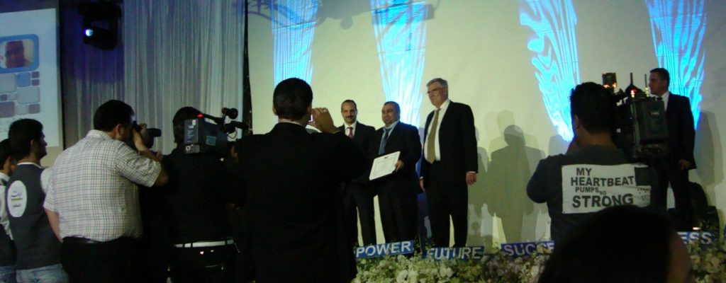 Imad HAIDAR, Owner and General Manager of Yamam Fancy Yarns & Tufts in SEBC Incubation Graduation Ceremonies, 2010, Four Seasons Hotel, Damascus