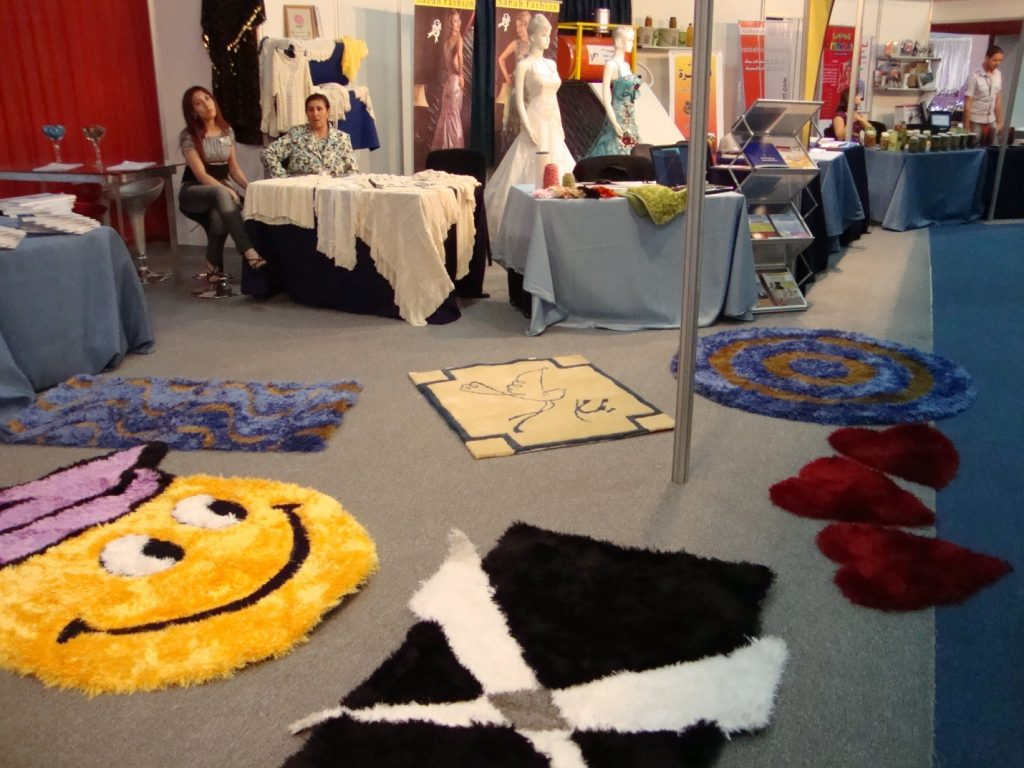 Yamam Fancy Yarns & Tufts stand in Damascus International Fair 2010, 57th edition, attendance from 45 countries around the world