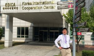 In front of KOICA