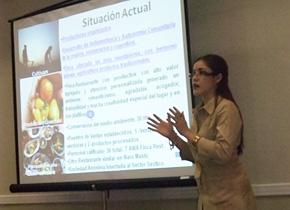 2008年度の研修員、コスタリカのマリアさんは 農産物を活かした地域振興に取り組んでいます。