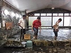 上勝町の温泉を体験。