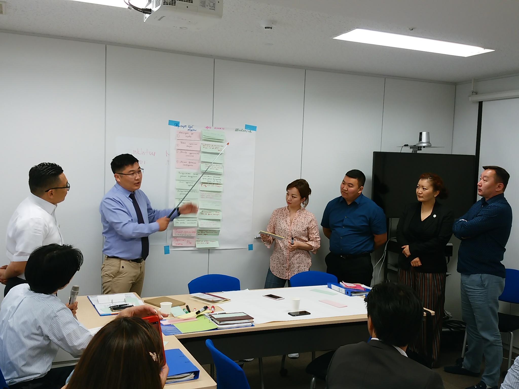 JICAモンゴル日本センタービジネス実務研修
