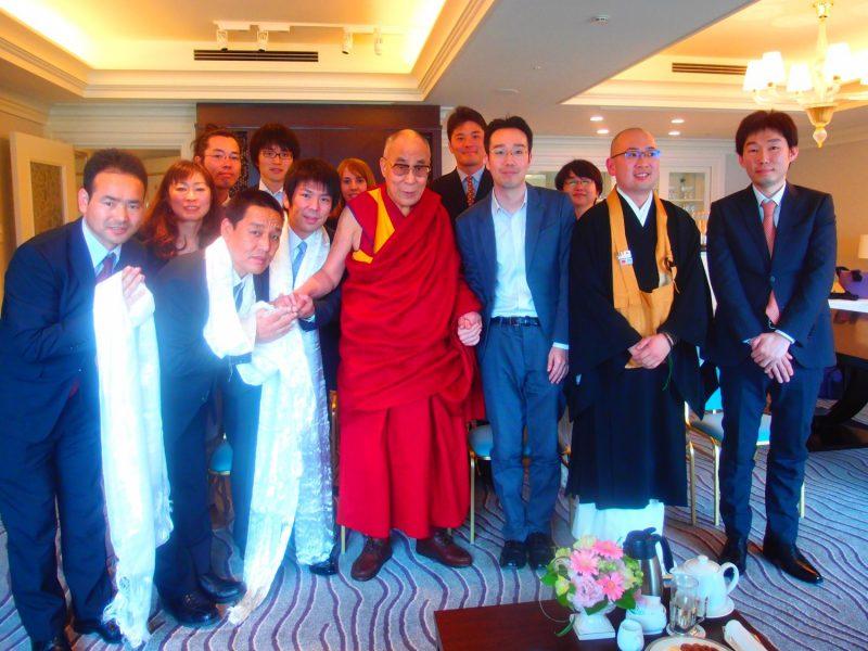 2014年京都でダライ・ラマ14世と会談