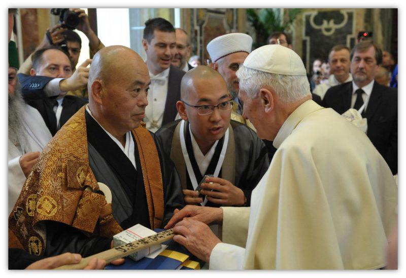 2011年日本の禅宗を代表してヴァチカンで前ローマ教皇に謁見