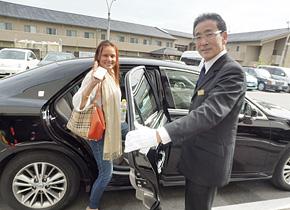 エムケイ株式会社の観光ハイヤーで京都観光へ