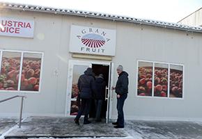 工場見学先のひとつ、AGRANA Fruitsウクライナ工場