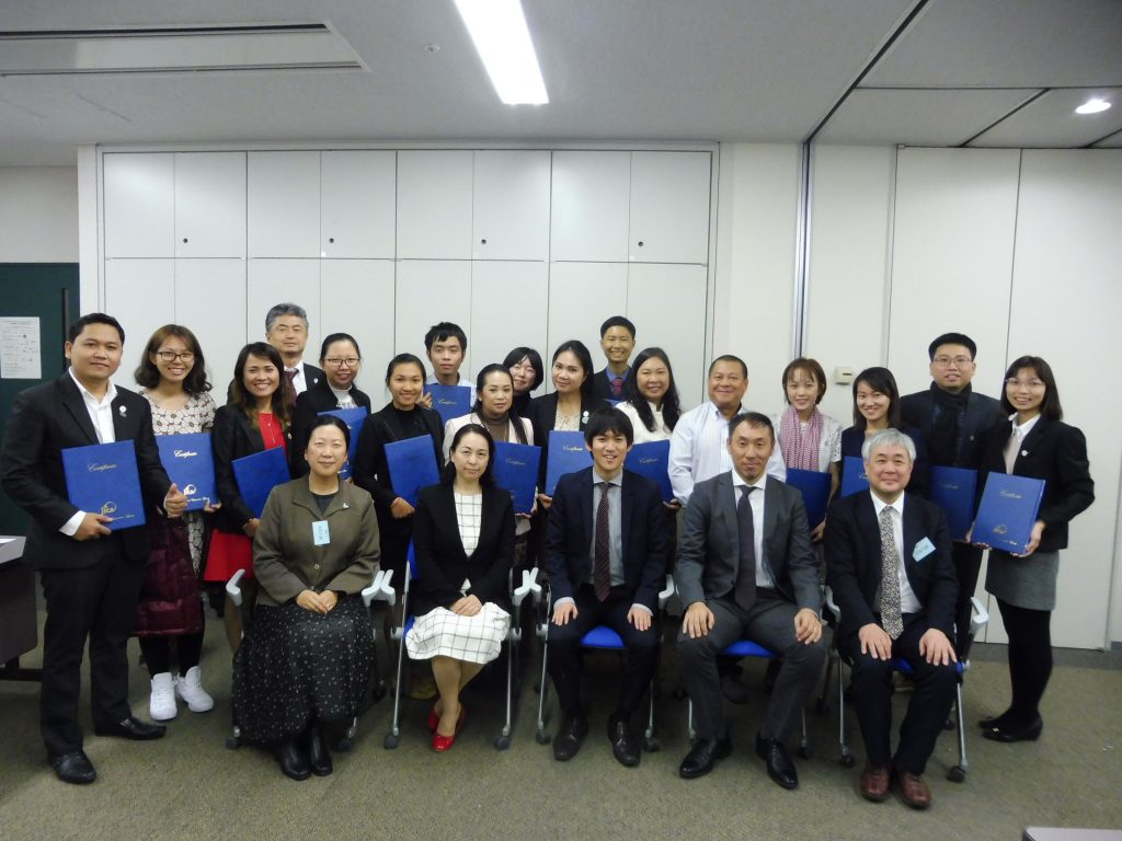 JICAカンボジア日本センタービジネス人材育成・支援拠点強化プロジェクト「企業家育成研修」のようす