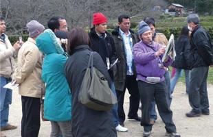 奈良の石舞台をお手製のスケッチブックを使いながら説明下さった ボランティアガイドに感動!