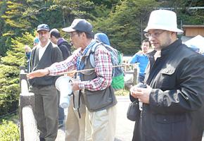 下呂市小坂町にて、実際に見学コースを体験。