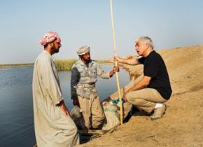 研修員の担当地域( イラク・中部の湖): 4 つの湖を併せてエコツーリズムを推進しようとしている。