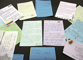 研修員からPREXに寄せられたお礼のメッセージ。