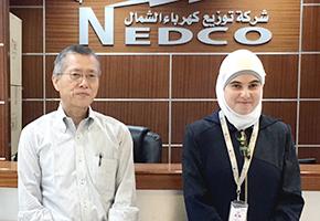 左:林 俊行氏/コースリーダー ニイカ・エナジー・コンサルタント 代表 右:ラマダン・マリアム氏/パレスチナ北部配電会社