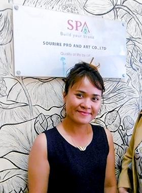 ワタイさん HEANG Vattey Sourire Pro and Art Co., Ltd / 2015年JICAカンボジア日本センターカイゼン研修と 2017年度JICA企業家育成研修に参加