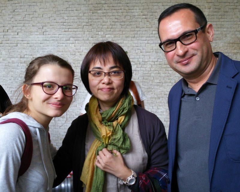 ウズベキスタンの同窓生と瀬戸口