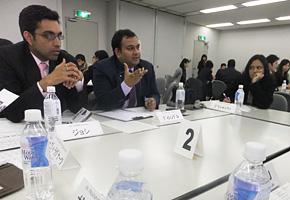 2月7日、インド人行政官と関西の企業経営者が 「日本企業の強み」について意見交換しました。