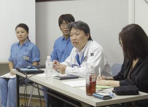 森嶋社長による講義、中堅・若手社員も同席