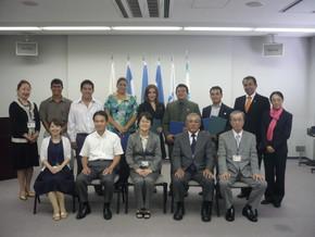 2010年の研修参加時、後列左から4番目がソフィアさん、後列右から2番目がホルヘさん。