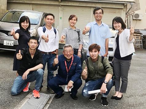 PREX「ベトナム人リーダー育成研修」で訪問。 何か一つでも参考になって、日本をひいきにして くれる人が増えるとよいです。(高嶋会長より)