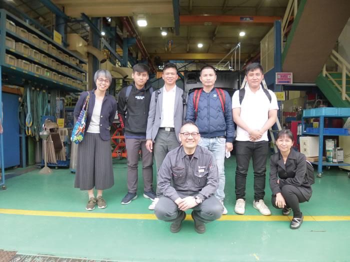 株式会社山田製作所にて改善の取り組み事例を学んだ。